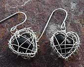 Designer heart earrings