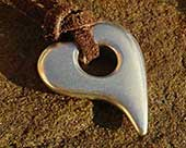 Heart shaped pendant for women