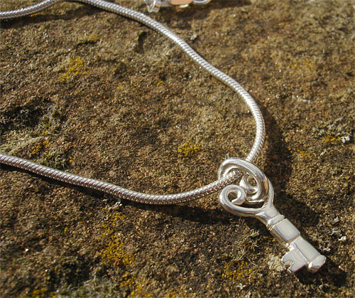 Womens Silver Heart Necklace