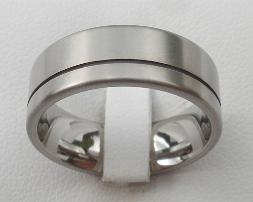 Frosted Finish Titanium Wedding Ring