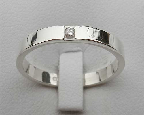 Diamond Set Sterling Silver Engagement Ring