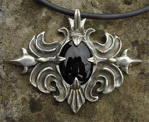 Gothic pewter necklace