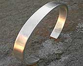Solid silver bracelet for men