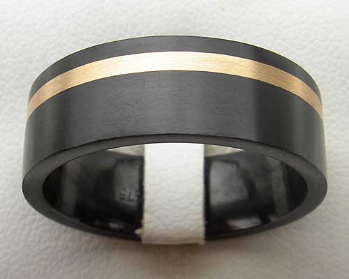 Mens Alternative Inlaid Wedding Ring
