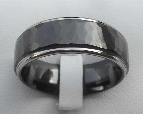 Men S Hammered Black Wedding Ring Love2have In The Uk
