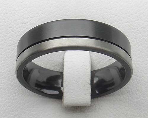Men S Black Silver Wedding Ring Love2have In The Uk