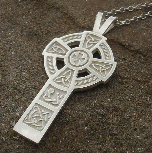 Mens silver celtic cross necklace love2have in the uk mens silver celtic cross necklace aloadofball Gallery
