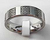Men's Celtic titanium ring