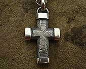 Men's chunky silver cross