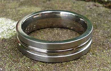 Mens chunky wedding ring