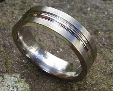 Mens chunky plain wedding ring