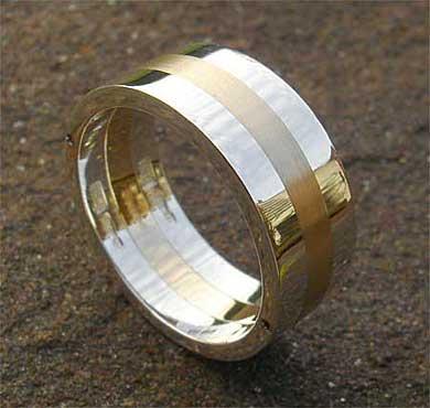 Chunky Gold U0026 Silver Wedding Ring