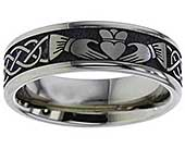 Claddagh ring in titanium