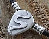 Mens contemporary Celtic necklace
