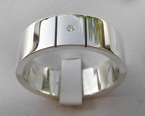 Men s Diamond Sterling Silver Ring   LOVE2HAVE in the UK! ffa5382e6c
