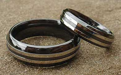 Men's contemporary wedding rings