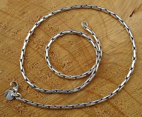 designer chain silver necklace for men