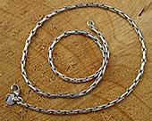 Men's designer silver chain necklace