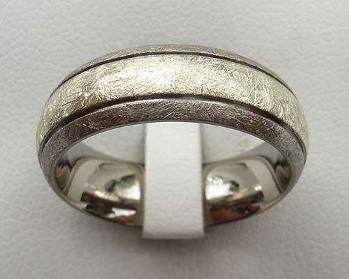 Size P Inlaid Titanium Wedding Ring