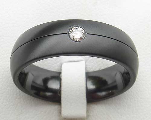 Men's diamond Gothic ring