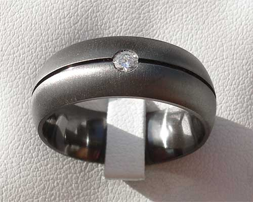 Mens diamond set wedding ring