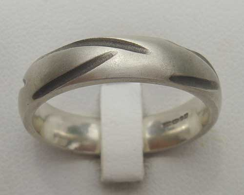 Mens Domed Designer Silver Ring