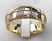 Men's gold ogham ring