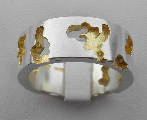 Mens Gold Plated Designer Ring