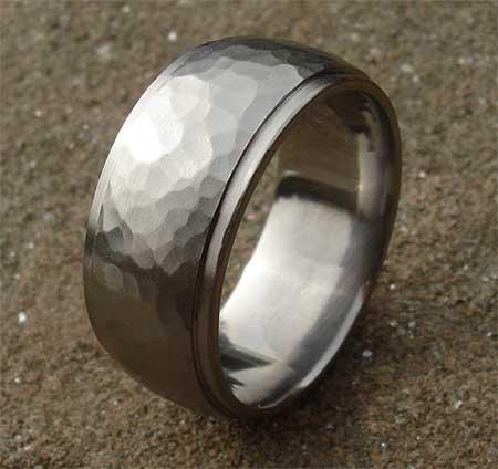 Cool Wedding Ring 2016 Mens wedding ring hammered finish