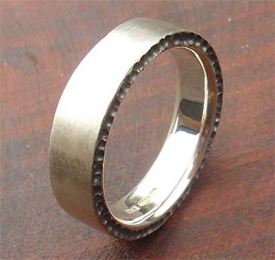 Size W Designer Silver Wedding Ring