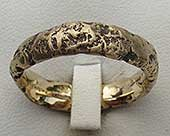 Mens 9ct gold wedding ring