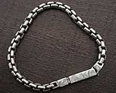 Silver chain bracelet for men