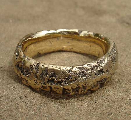 Men S Heavily Textured Gold Wedding Ring Love2have In