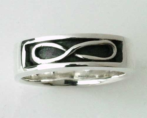 Mens Infinity Silver Ring