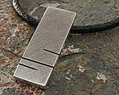 Men's matt silver pendant