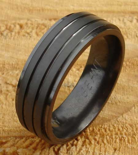 Men's modern wedding ring