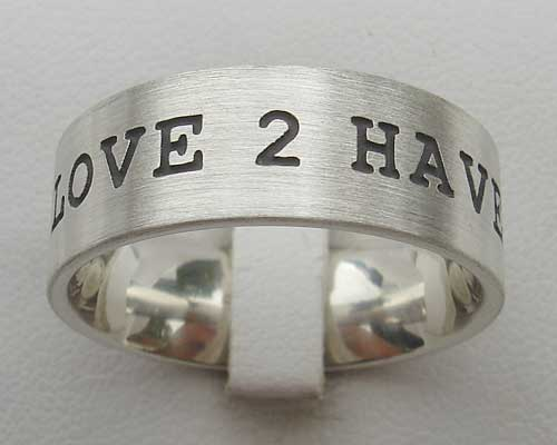 Mens Personalised Silver Ring