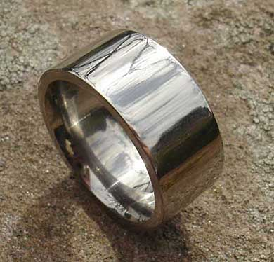 Size K Titanium Wedding Ring