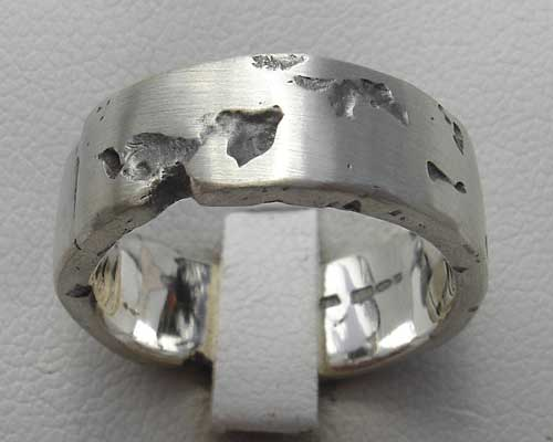 Men S Rocky Texture Silver Ring Love2have In The Uk