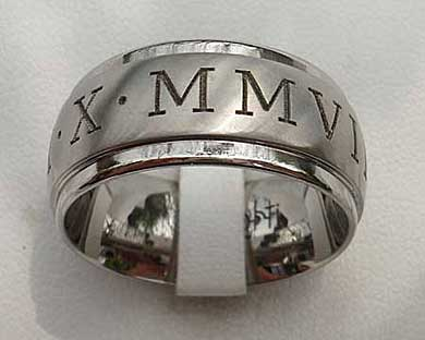 Custom Roman Numerals Wedding Ring Love2have In The Uk