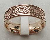 Rose gold Celtic wedding ring