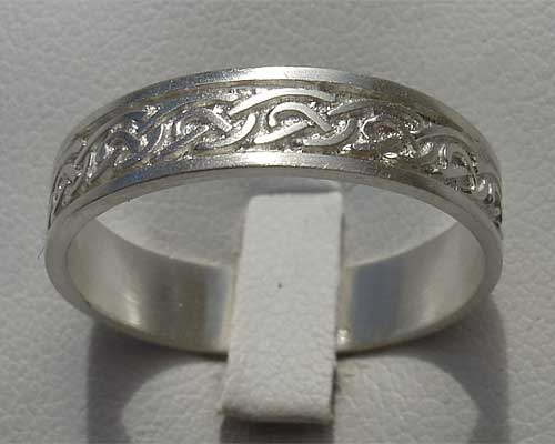 Silver Celtic Wedding Ring For Men Or Women