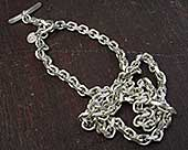 Mens silver chain necklace