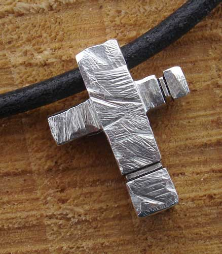 Leather Cross Necklace for Men