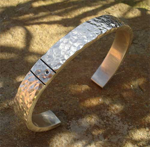 Silver Mens Diamond Bracelet