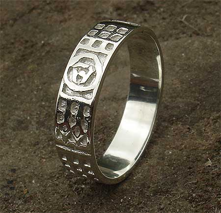 Mens Silver Scottish Celtic Wedding Ring LOVE2HAVE In The UK