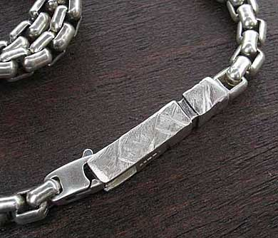 Men's solid sterling silver chain necklace