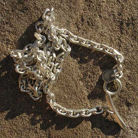 Men's solid sterling silver chain