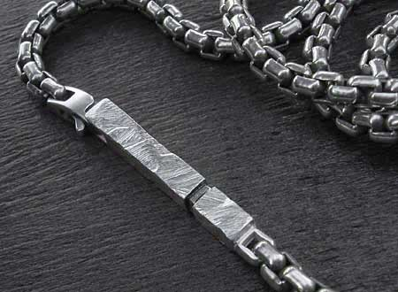 Men's sterling silver chain necklace