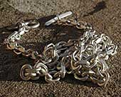 Mens sterling silver chai